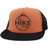 Hats Trucker Hat with Snapback / Neon Orange/Black / One Size I'd Hike That Trucker Hat