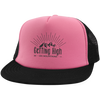 Hats Trucker Hat with Snapback / Neon Pink/Black / One Size Getting High on Mountains Trucker Hat