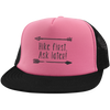 Hats Trucker Hat with Snapback / Neon Pink/Black / One Size Hike First, Ask Later! Trucker Hat