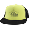 Hats Trucker Hat with Snapback / Neon Yellow/Black / One Size Getting High on Mountains Trucker Hat