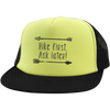 Hats Trucker Hat with Snapback / Neon Yellow/Black / One Size Hike First, Ask Later! Trucker Hat