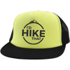 Hats Trucker Hat with Snapback / Neon Yellow/Black / One Size I'd Hike That Trucker Hat