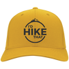 Hats Twill Cap / Gold / One Size I'd Hike That Cap
