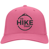 Hats Twill Cap / Neon Pink / One Size I'd Hike That Cap
