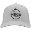 Hats Twill Cap / Silver / One Size I'd Hike That Cap