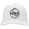 Hats Twill Cap / White / One Size I'd Hike That Cap