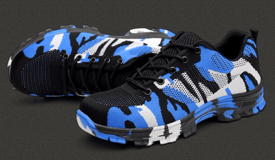 Shoes Camouflage blue / 40 Indestructible BulletProof Safety Shoes