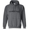 "Sweatshirts Dark Heather / Small I'd Hike That ""Hashtag"" Pullover Hoodie Women's"