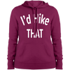 Sweatshirts Pink Rush / X-Small I'd Hike That Ladies' Pullover Hooded Sweatshirt