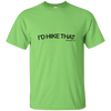 "T-Shirts Lime / Small I'd Hike That ""Hashtag"" T-Shirt Men's"