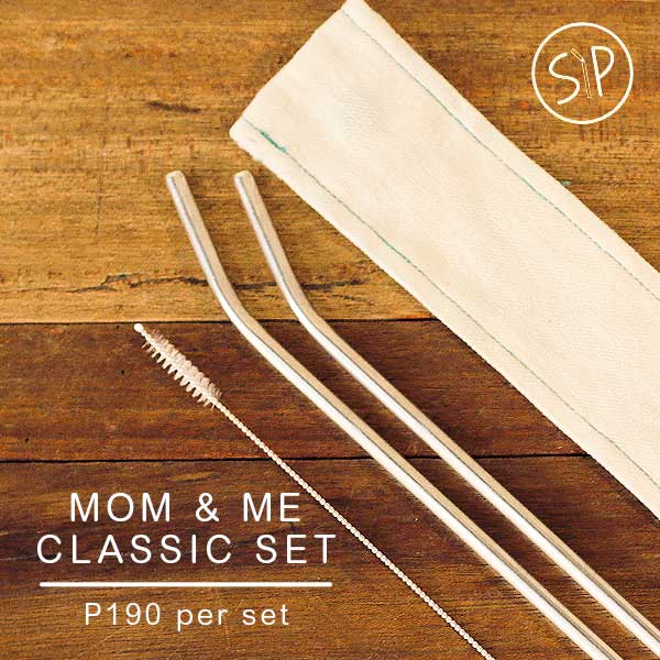 SIP Steel Straw - Mom & Me Classic Set (2pcs)