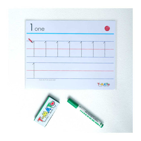 T-Mato Reusable Worksheets -Numbers