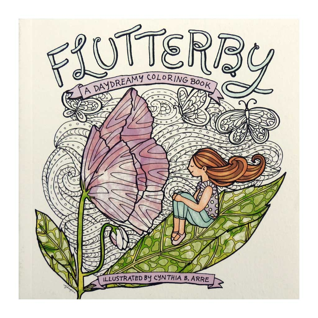 Flutterby: A Daydreamy Coloring Book