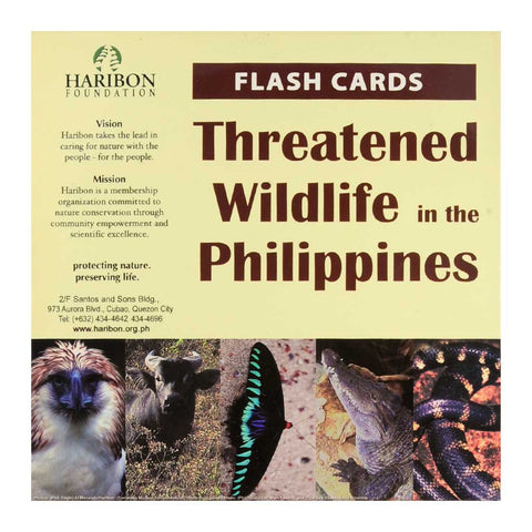Threatened Wildlife in the Philippines Flash Cards