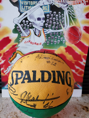 Grateful Dead Inspired '96 Autographed Lithuania Olympic Basketball produced by Not Fade Away