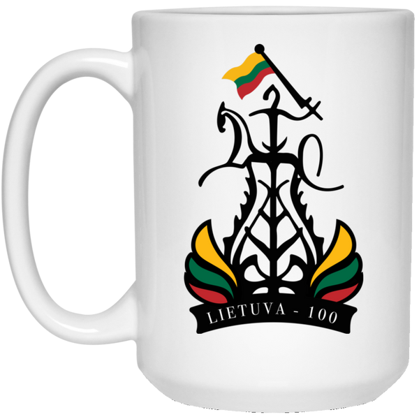 Lietuva Restored 100 15 oz. White Mug