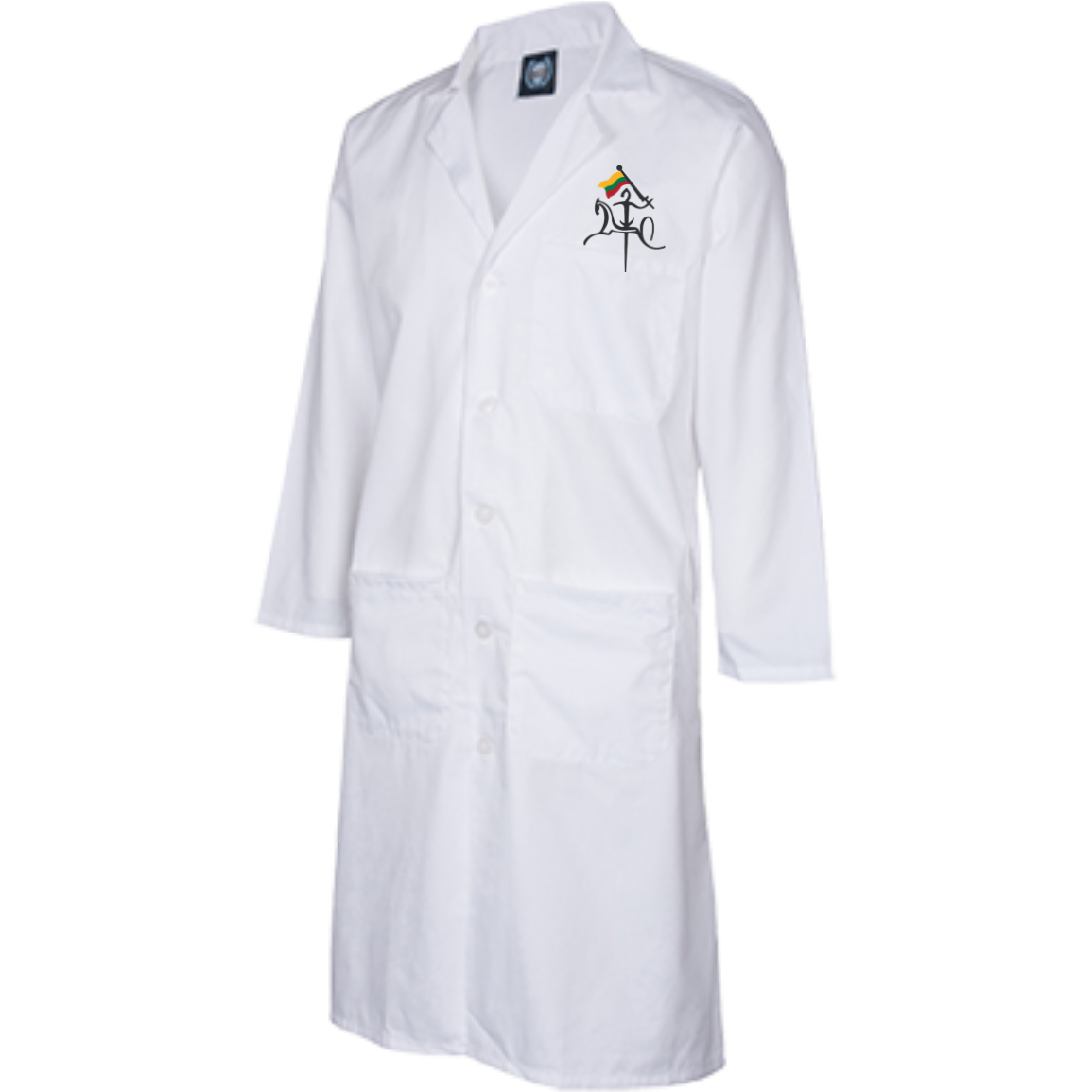 Vytis w/ Flag -- Guys/Gals 43 Inch Long Lab Coat