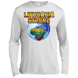 Lithuania Strong -- Guys Long Sleeve Moisture Absorbing Performance Shirt