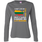 Made in Lithuania -- Gals Feminine Fit Long Sleeve