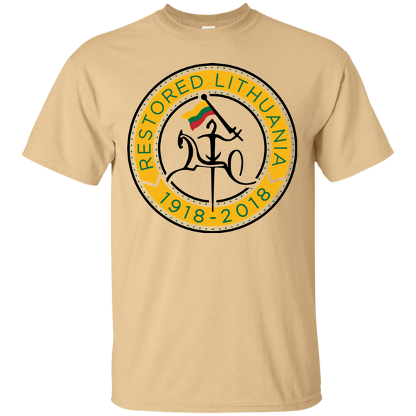 Restored 100 (Vytis Yellow Circle) -- Vyrams T-Shirt