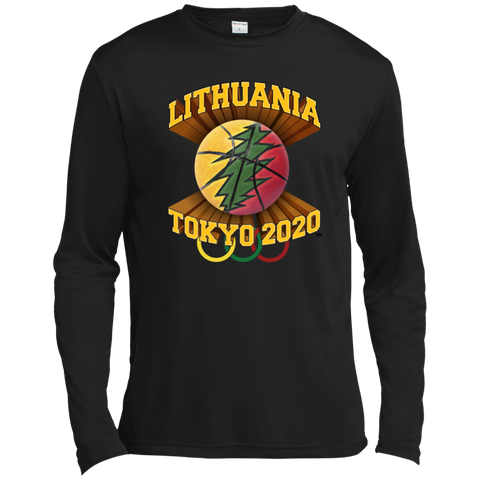 Lithuania Basketball Tokyo 2020 - Guys Tall Long Sleeve Moisture Absorbing