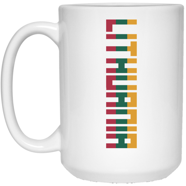 Lithuania - Lithuania Strong Collection 15 oz. White Mug