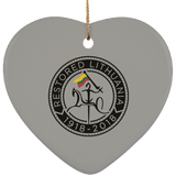 Restored 1918-2018 Ornament - Ceramic Heart Ornament