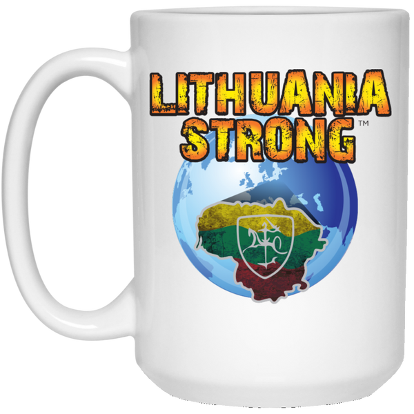 Lithuania Strong - Lithuania Strong Collection 15 oz. White Mug