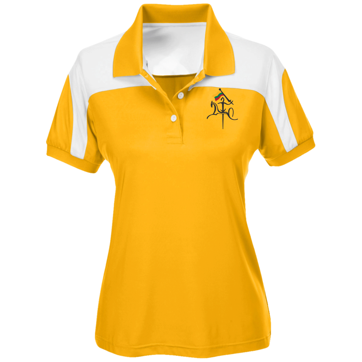 Vytis w/ Flag -- Gals Colorblock Polo