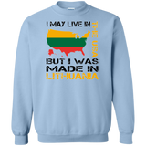 Made in Lithuania -- Guys/Gals Crewneck Pullover Sweatshirt