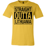 Outta Lithuania -- Bella+Canvas Guys/Gals Short-Sleeve Tee T-Shirt