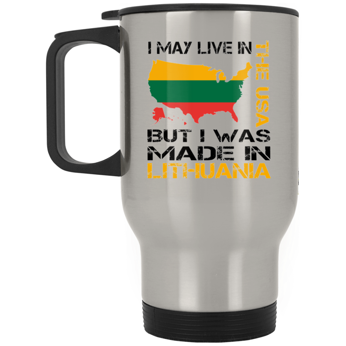 Made in Lithuania -- Stainless Steel Travel Mug