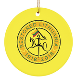 Lithuania Strong Ornament - Ceramic Circle Ornament
