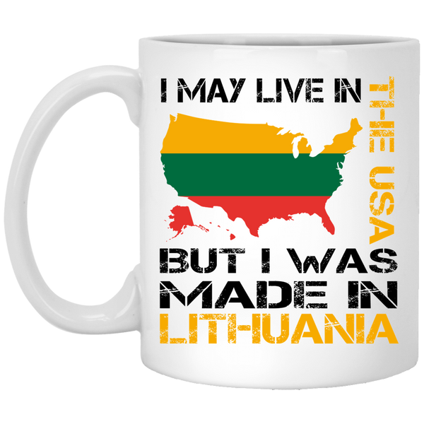 Made in Lithuania - Lithuania Strong Collection 11 oz. White Mug
