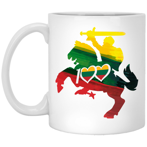 Horse Knight 100 - Lithuania Strong Collection 11 oz. White Mug