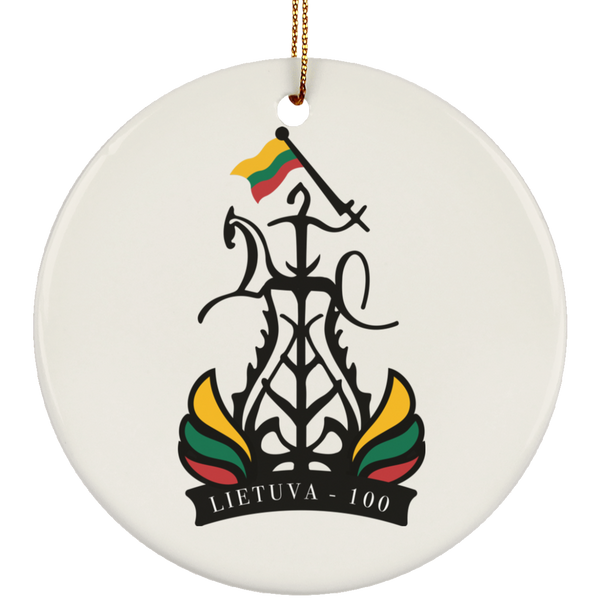 Lietuva 100 - Ceramic Circle Ornament