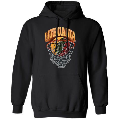 Lithuanian Basketball Skeleton Net-- Guys/Gals Hoodie Sweatshirt