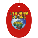 Lithuania Strong Ornament - Ceramic Oval Ornament