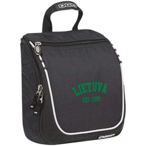 Lietuva Est. 1009 -- Embroidered Toiletry Bag