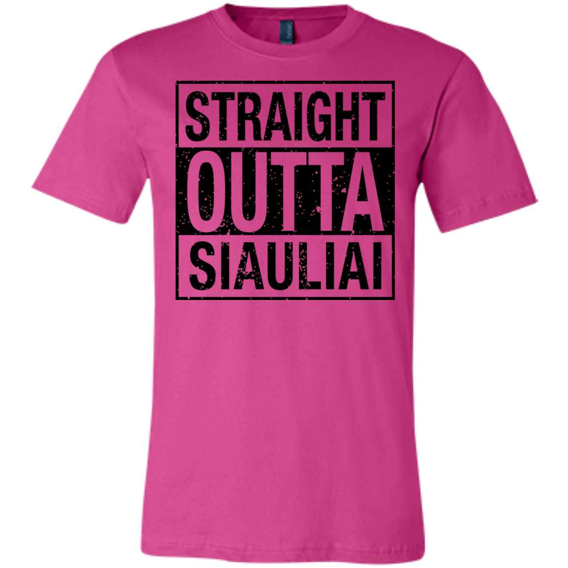 Outta Siauliai -- Bella+Canvas Guys/Gals Short-Sleeve Tee T-Shirt