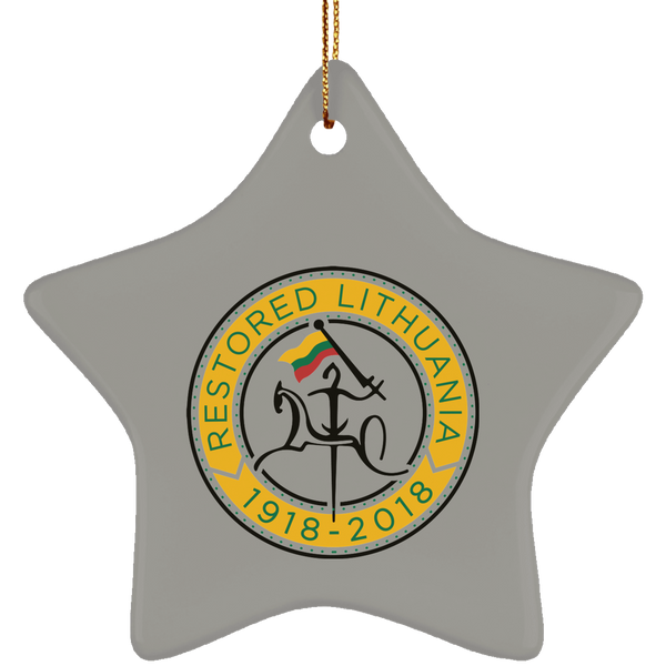 Restored 1918-2018 Ornament - Ceramic Star Ornament