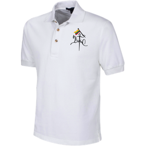Vytis w/ Flag -- Guys Tall Cotton Pique Knit Polo