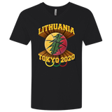 Lithuania Basketball Tokyo 2020 - Guys Premium Fitted V-Neck