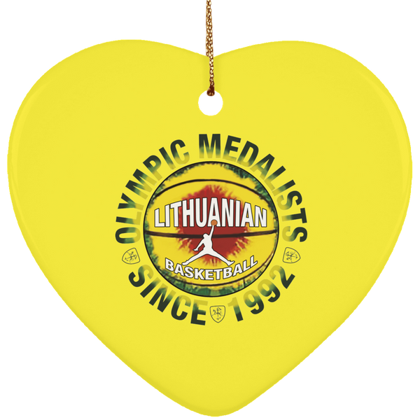 Olympic Medalist Ornament - Ceramic Heart Ornament