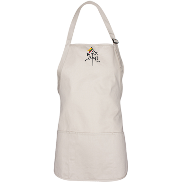Vytis w/ Flag -- Medium Length Apron