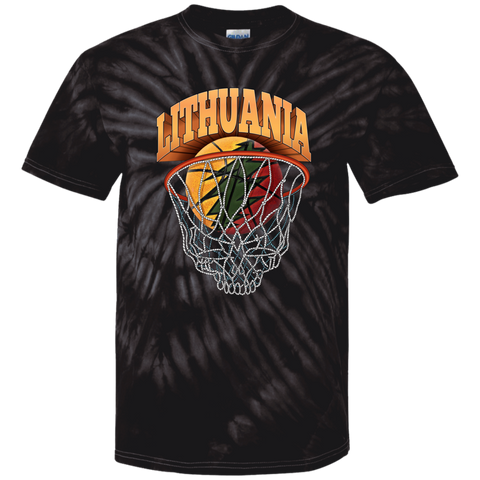 Lithuania Basketball Skeleton Net - Guys Tie Dye T-Shirt