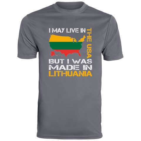 Made in Lithuania -- Guys Performance Dri-Fit Wicking T-Shirt