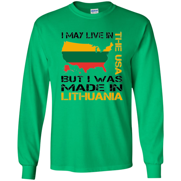 Made in Lithuania -- Youth Boys/Girls Long Sleeve T-Shirt