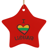 Lithuania Strong Ornament - Ceramic Star Ornament