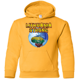 Lithuania Strong -- Youth Boys/Girls Hoodie Sweatshirt